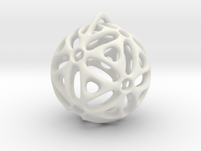 View of spherical games - part one. Pendant in White Natural Versatile Plastic