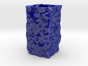 randomvase_v2_-_3_mm_walls in Gloss Cobalt Blue Porcelain
