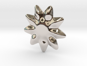 Tiny flower for jewelry making in Rhodium Plated Brass