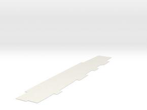 1:350 Scale CVN-65 Hangar Deck (Deck Only) in White Natural Versatile Plastic