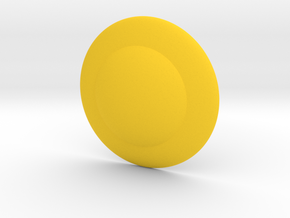 Shield Button in Yellow Processed Versatile Plastic