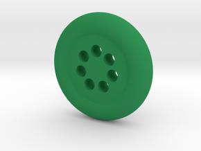 Seven Hole Button in Green Processed Versatile Plastic