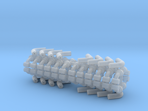 Squad 51 rail support 4 pack in Smooth Fine Detail Plastic