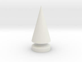 Conical Tree Spike in White Natural Versatile Plastic