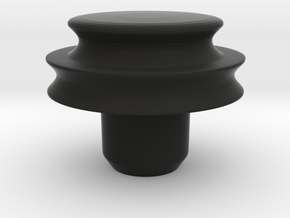 conversion pulley for Rega Planar 3 turntable in Black Natural Versatile Plastic