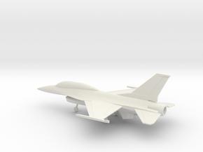 General Dynamics F-16B Fighting Falcon in White Natural Versatile Plastic: 1:100