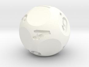 d10 Jumbo Sphere Dice - Numbered 1-10 in White Processed Versatile Plastic