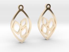 """""""Eyelets"""" Earrings in 14k Gold Plated Brass"""