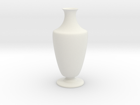 Vase 1345c in White Natural Versatile Plastic