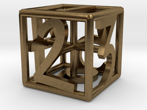 D6 Balanced - Numbers Only in Natural Bronze