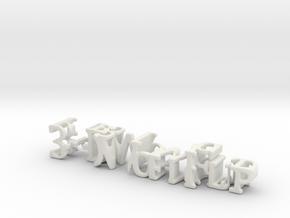 3dWordFlip: 3-D Word Flip/Flip 3-D Word in White Natural Versatile Plastic