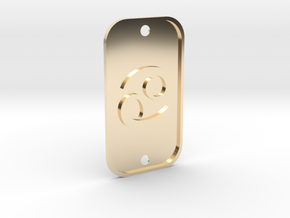 Cancer (The Crab) DogTag V1 in 14K Yellow Gold