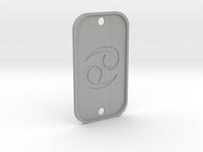 Cancer (The Crab) DogTag V4 in Aluminum