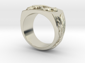 Dragon Ring in 14k White Gold