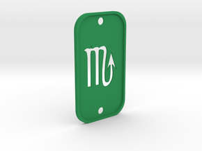 Scorpion (The Scorpion) DogTag V2 in Green Processed Versatile Plastic