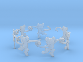 Monkey Band in Smooth Fine Detail Plastic