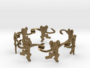 Monkey Band in Natural Bronze