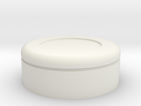 Gantz Suit Button in White Natural Versatile Plastic: Small