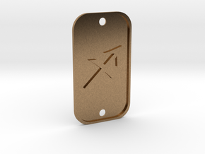 Sagittarius (The Archer) DogTag V1 in Natural Brass
