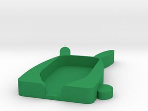 Trezor Cover - Augustus Fatbunny in Green Processed Versatile Plastic