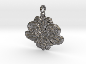 Ornamental-pendant-6cm in Polished Nickel Steel