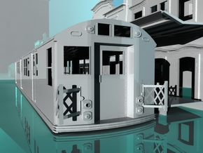 NY R16 Subway Car -G Scale in White Strong & Flexible