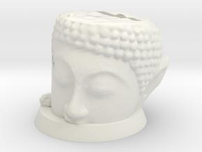 Ancient Eldar Head & Base in White Natural Versatile Plastic