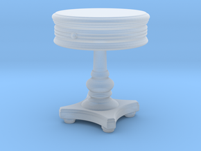 Miniature Sonoma Round Side Table  in Smooth Fine Detail Plastic: 1:24