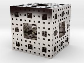Menger sponge Square Cube in Platinum