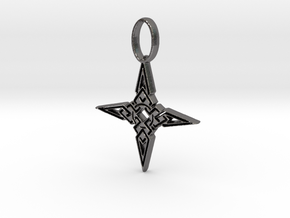 Skyrim Dawnstar Pendant in Polished Nickel Steel