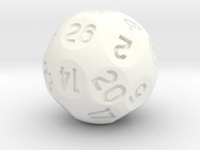 d26 Sphere Dice in White Processed Versatile Plastic