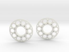 IF KDisc Earrings in White Natural Versatile Plastic