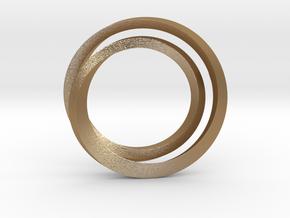Eclipse pendant in Matte Gold Steel