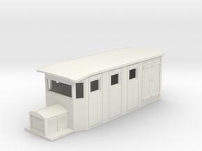 Hon30/009 SR&RL style 4w combine railcar in White Natural Versatile Plastic