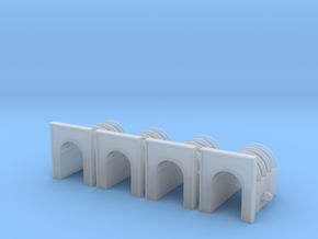 T-Scale Brick and Concrete Tunnel Portal (4) in Smoothest Fine Detail Plastic