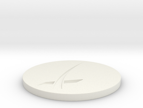 SpaceX Themed Coaster in White Natural Versatile Plastic