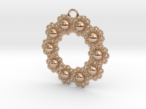 Fractal Roundness in 14k Rose Gold Plated Brass