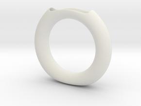 Halo vase in White Natural Versatile Plastic