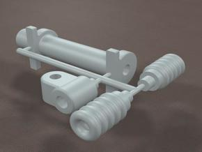 1/16 Generic Rack and Pinion Steering unit in Smooth Fine Detail Plastic
