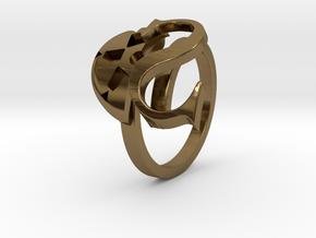 Saint Snow Twin Ring - Leah Kazuno in Polished Bronze: 4 / 46.5