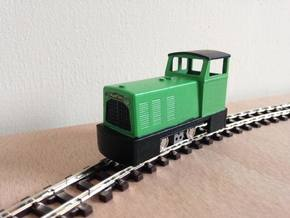 OO9 Ruston Diesel Locomotive in Smooth Fine Detail Plastic