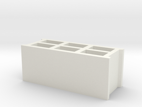 Block 1/32 in White Natural Versatile Plastic