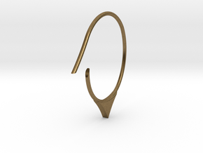 Hoop medium size (SWH6a) in Natural Bronze