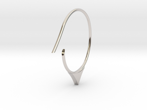 Hoop medium size (SWH6a) in Rhodium Plated Brass