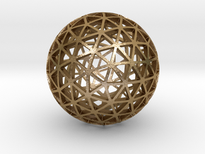 SUPER_PENTAKIS_DODECAHEDRON in Polished Gold Steel