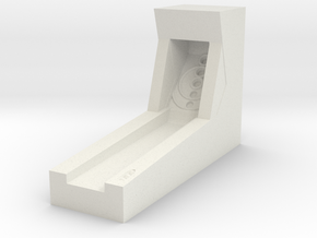 Mini Skeeball in White Natural Versatile Plastic: Small