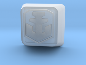 World of Warships Logo keycap (less detail) in Smooth Fine Detail Plastic