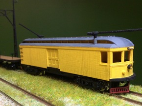 #160-1511 Interurban Box Motor w/ clerestory roof in Frosted Extreme Detail