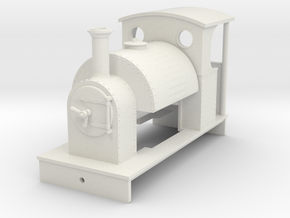 5.5mm saddletank loco with open rear cab in White Natural Versatile Plastic