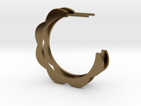 FLOWER POWER Hoop Earrings in Polished Bronze: Medium